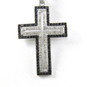 Jewelry - Diamond Cross Lady's Pendant w/Chain 14K WG 2.00Ct
